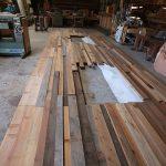 いろいろ材木の壁ー計画編