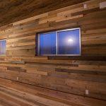いろいろ材木の壁ー施工編